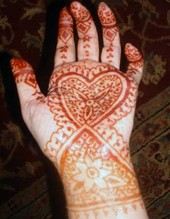Henna on your hand