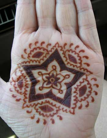 Henna on your palm